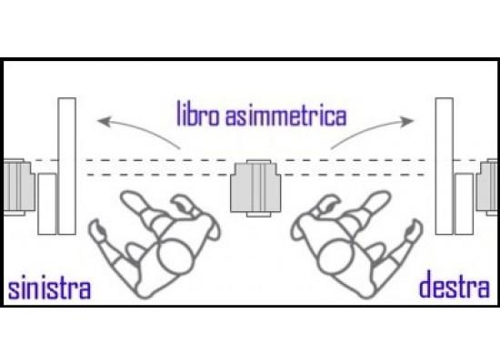 Apertura porta libro asimmetrica