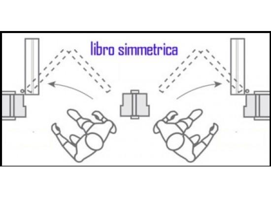 apertura porta libro simmetrica