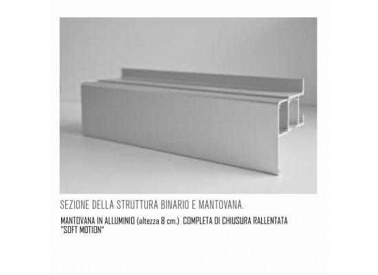 scorrevole esterno muro compreso mantovana e binario alluminio e kit soft motion
