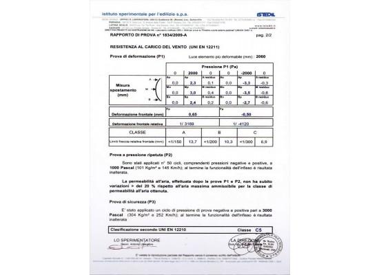 Certificato aria-acqua-vento pag.2