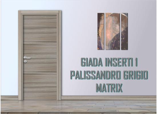 Giada inserti 1 palissandro grigio matrix