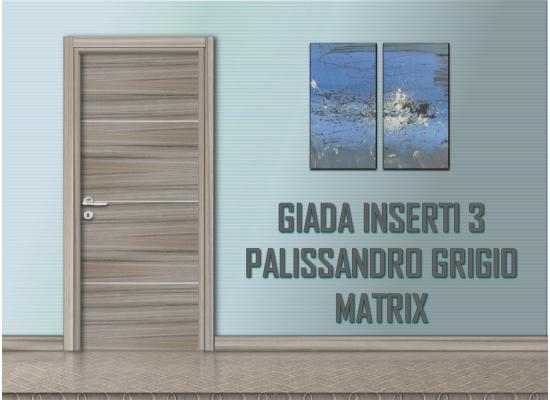 Giada inserti 3 palissandro grigio matrix