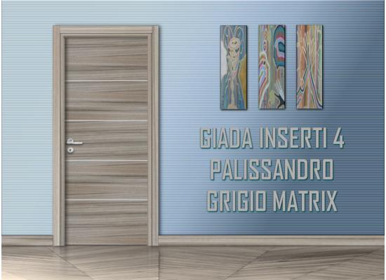 Giada inserti 4palissandro grigio matrix