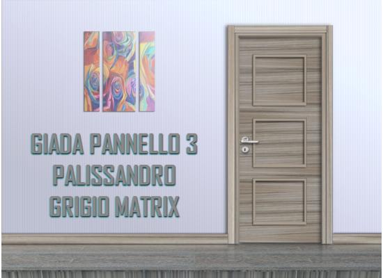 Giada pannello 3 palissandro grigio matrix