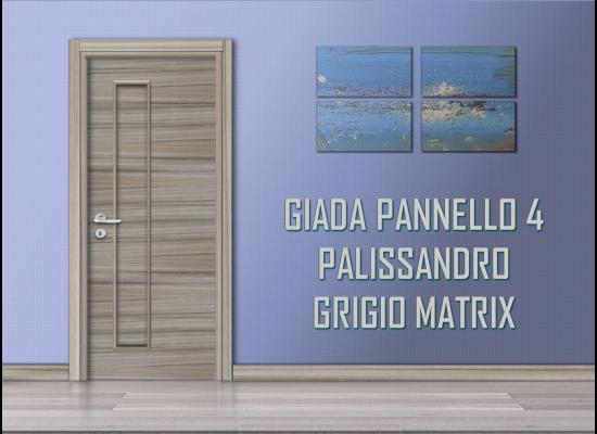 Giada pannello 4 palissandro grigio matrix