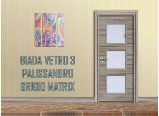 Giada vetro 3 palissandro grigio matrix