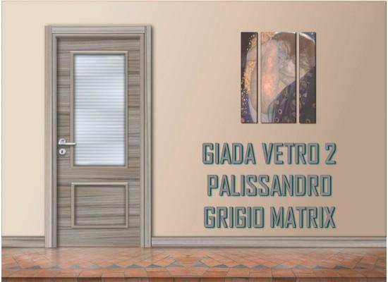 Giada vetro 2 palissandro grigio matrix