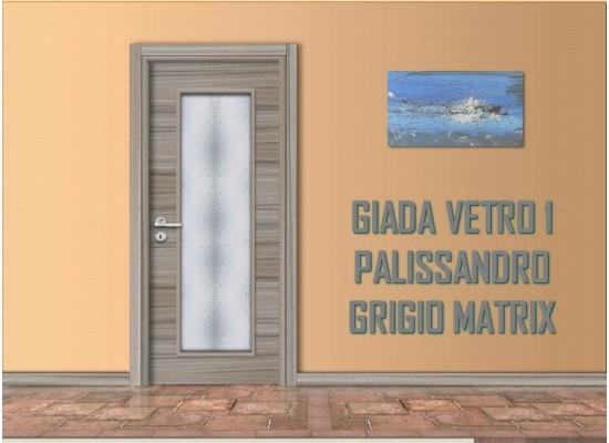 Giada vetro 1 palissandro grigio matrix