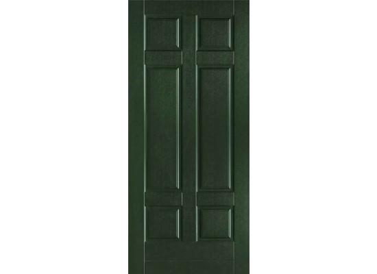Pannello mod. MILANO rivestito pellicola attiva verde scuro 6125