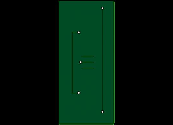Pannello da rivestimento mod.Perla laccato verde