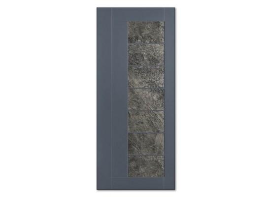 Pannello mod. PETRA quarzite pietra naturale incastonata in pannello mdf 18 mm idrorepellente laccato Ral 7012