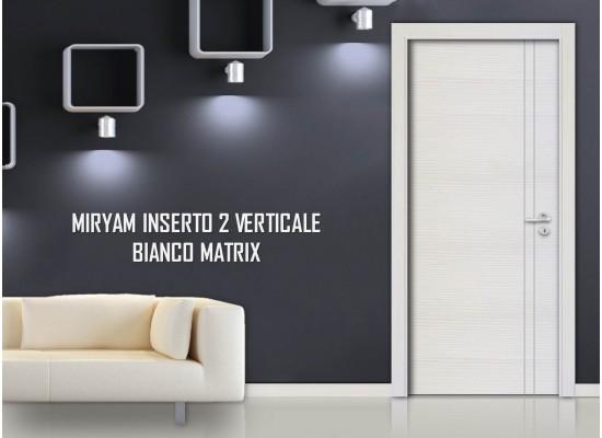 Miriam inserto 2 verticale bianco matrix