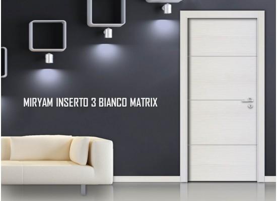 Miriam inserto 3 bianco matrix
