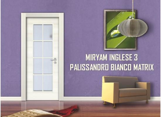 Miryam inglese 3 palissandro bianco matrix