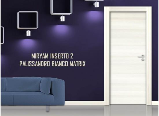 Miriam inserto 2palissandro bianco matrix