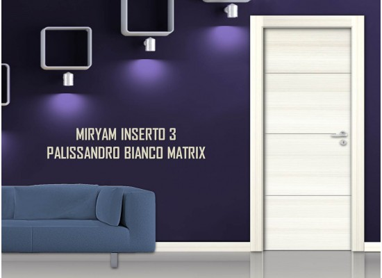 Miriam inserto 3 palissandro bianco matrix