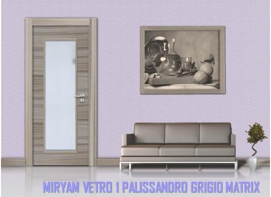 Miriam vetro 1 palissandro grigio matrix