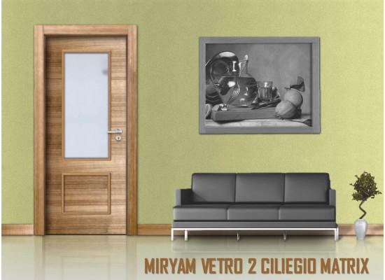 Miriam vetro 2 ciliegio matrix