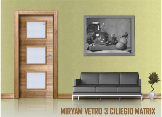Miriam vetro 3 ciliegio matrix