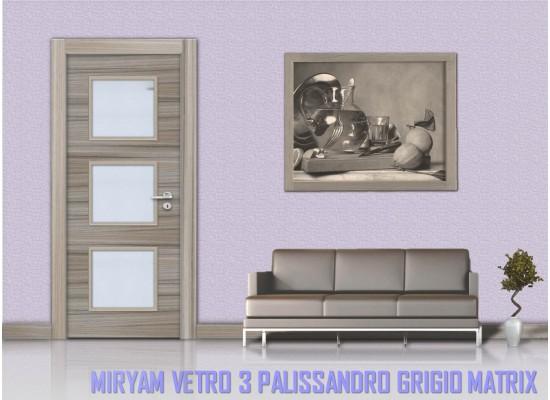 Miriam vetro 3 palissandro grigio matrix