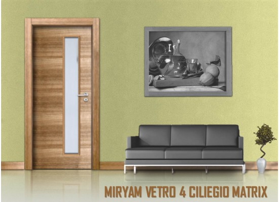 Miriam vetro 4 ciliegio matrix
