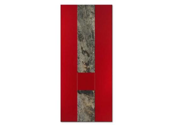 Pannello mod. SERENA quarzite pietra naturale incastonata in pannello mdf 18 mm idrorepellente laccato Ral 3003
